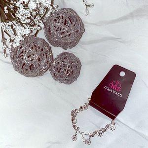 Paparazzi Jewelry Silver Floral Bracelet